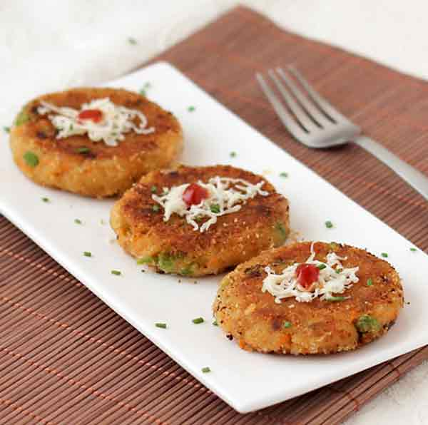 Kids special bread cutlet