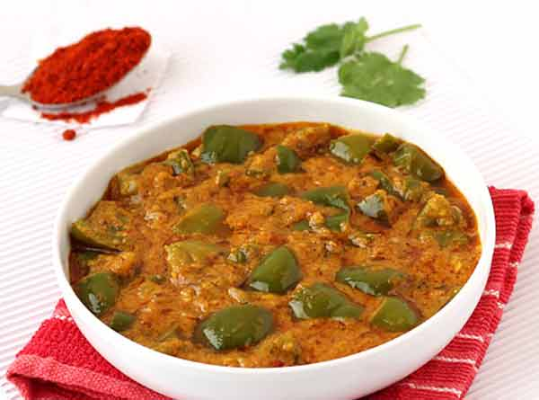 Delicious capsicum masala curry, a side dish