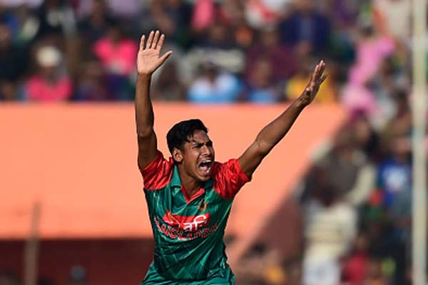 Bangladesh's Mustafizur out of Asia Cup with side strain