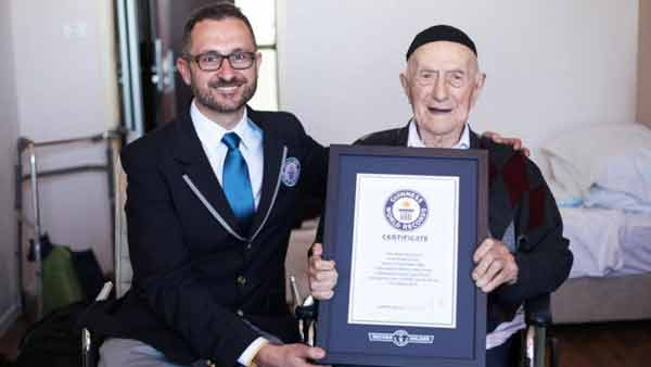Holocaust survivor named oldest man in the world