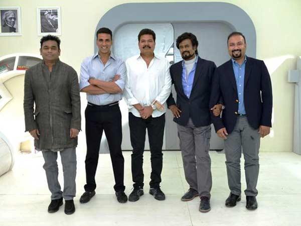 Rajnikanth joins 2.0 team in Delhi