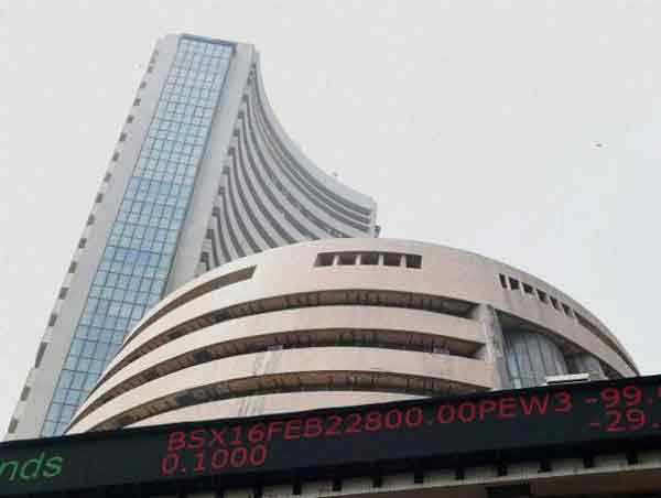 Indian sensex trading marginally higher