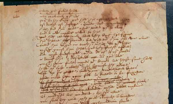 William Shakespeare's handwritten plea for refugees to go online