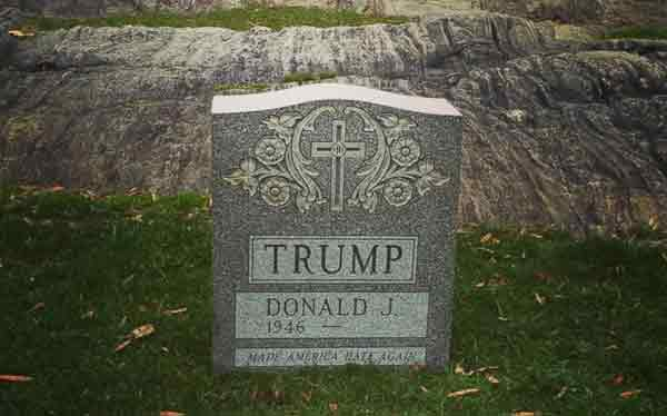 Trump tombstone found in Central Park!