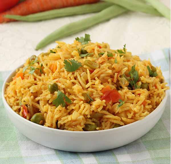Delicious vegetable pulao