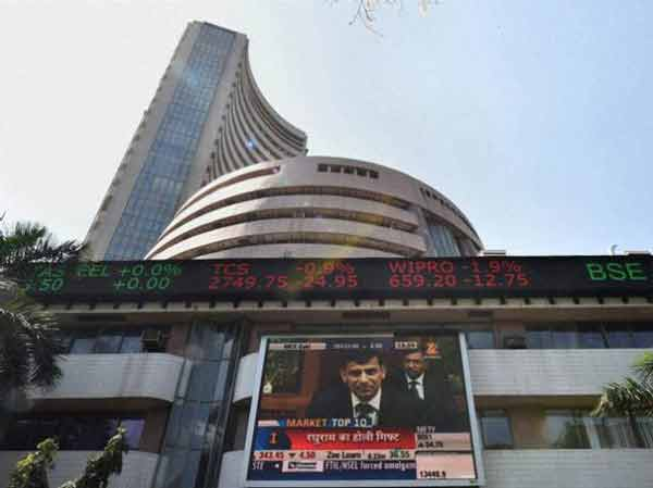 Indian Sensex edges up 46 points