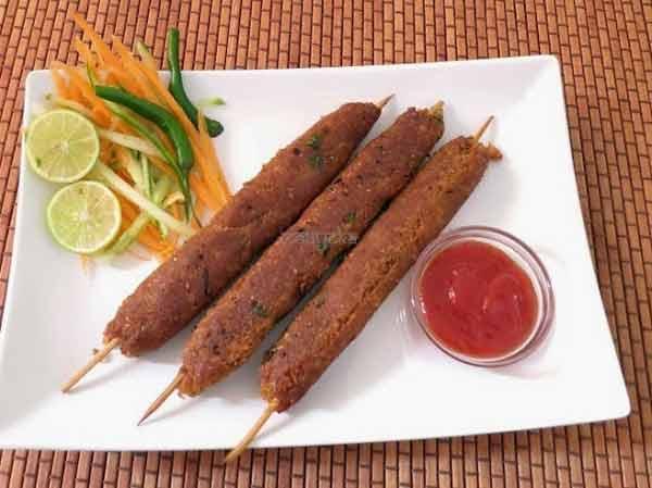 Healthy soya seekh kabab