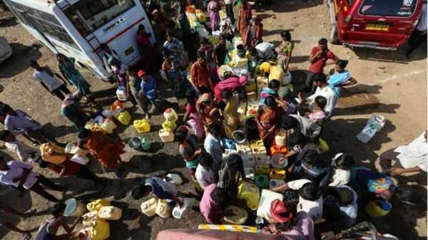 India drought: '330 million people affected'
