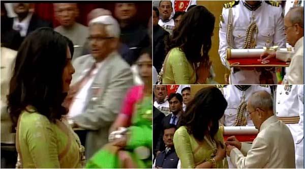 Priyanka Chopra receives Padma Bhushan