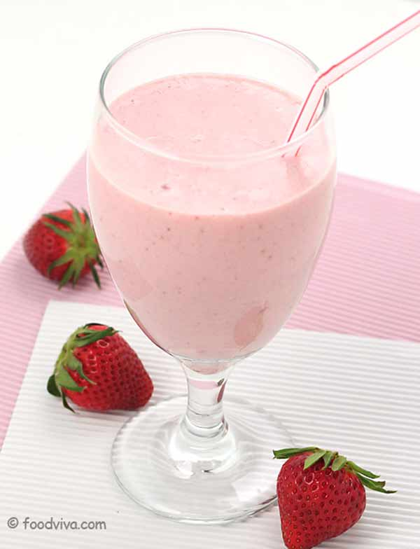 <strong>Strawberry milkshake, summer's treat</strong>