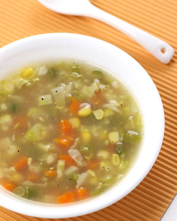 Homemade healthy vegetable soup
