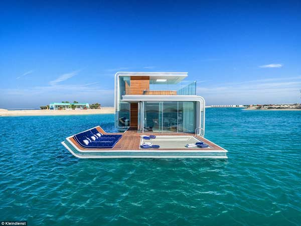 World's first luxury floating villa undergoes test in Dubai