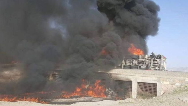Afghanistan fuel tanker crash kills 73