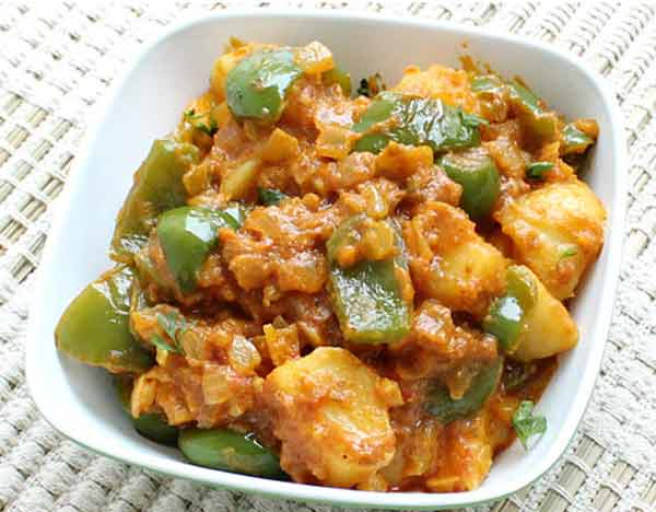 Aloo capsicum curry, a side dish