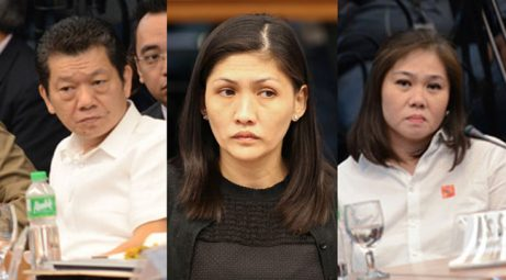 Phone records of Kim Wong (L), Maia Santos-Deguito (C), and Salud Bautista (R) will be looked into. Photo EPA