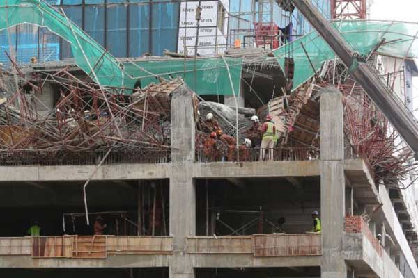 6 Bangladeshi workers trapped after building floor collapses in Malaysia
