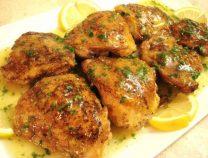 Homemade delicious lemon chicken