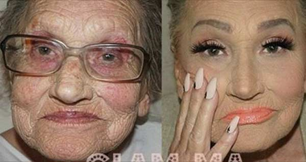 80-yr-old grandma gets a countering makeover and looks incredible