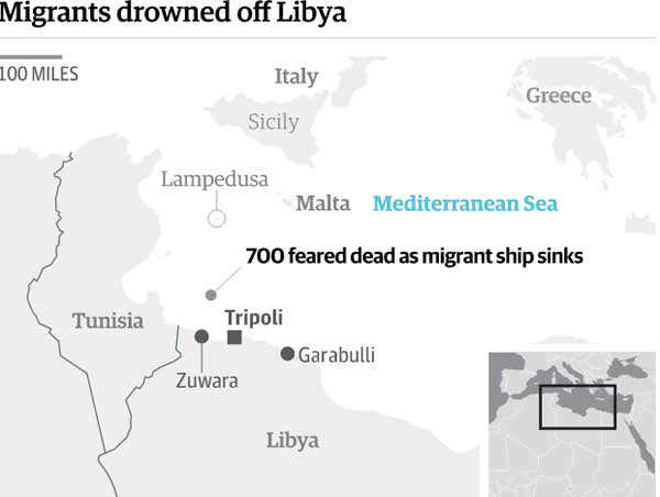 More than 700 migrants killed in shipwreck disasters