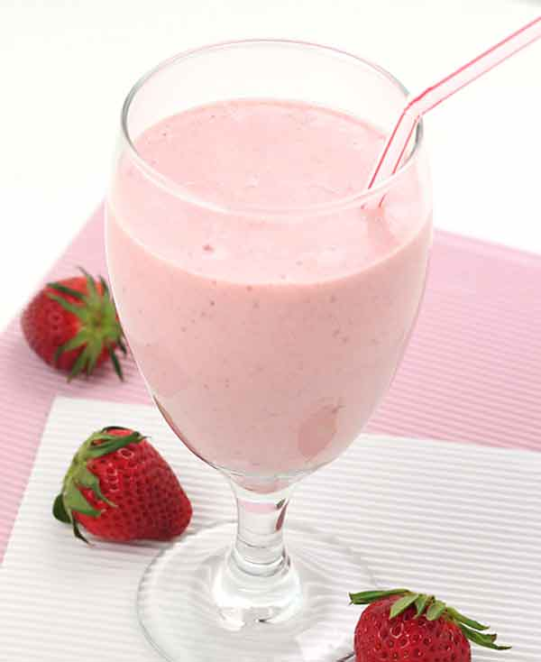 Yummiest strawberry milkshake