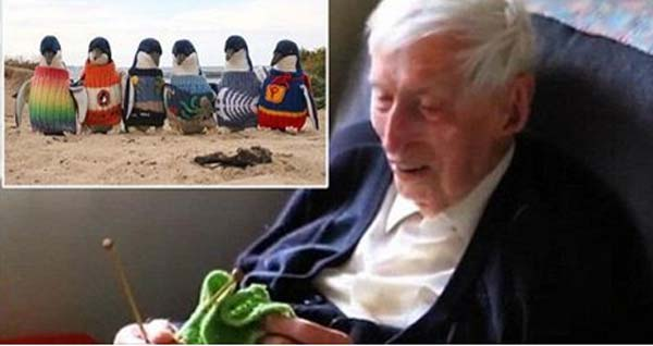Man- who shot to fame by knitting sweaters for penguins – dies aged 110