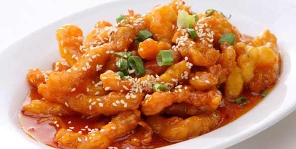 Yummy honey chilli potatoes, a crispy snack