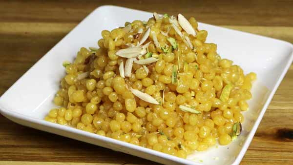 Homemade sweet boondi, ramadan recipe