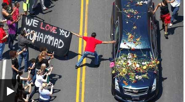 Rousing farewell for Muhammad Ali