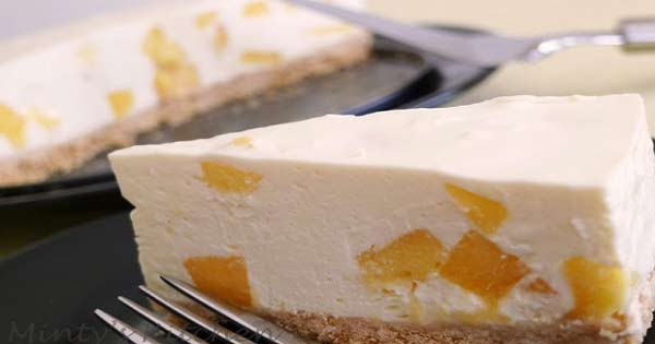 Yummiest mango cheesecake, a delicious item