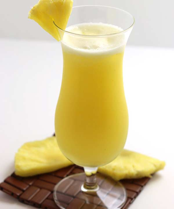 Tasty pineapple juice