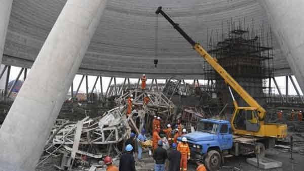 40 killed in China power station collapse