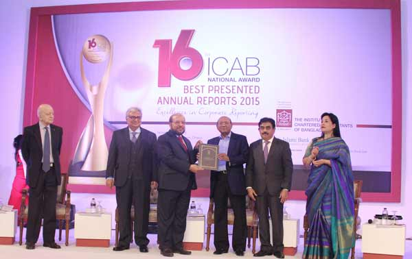 ICAB honours IBBL for best presented annual reports