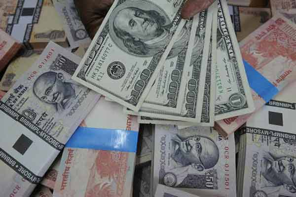 Rupee ends higher at 67.90