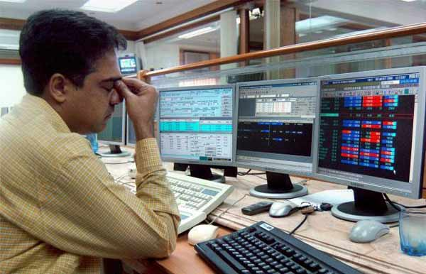 Sensex edges down 46 points