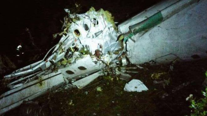 Brazil club team in Colombia plane crash