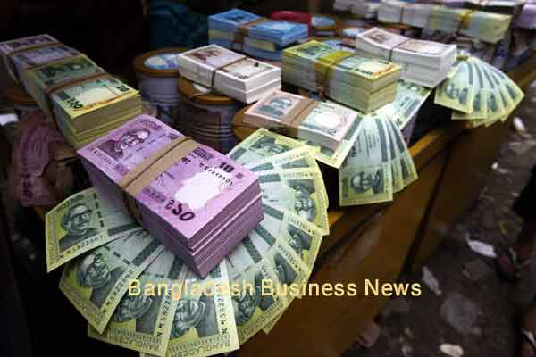 Bangladesh Taka depreciates three paisa more at closing