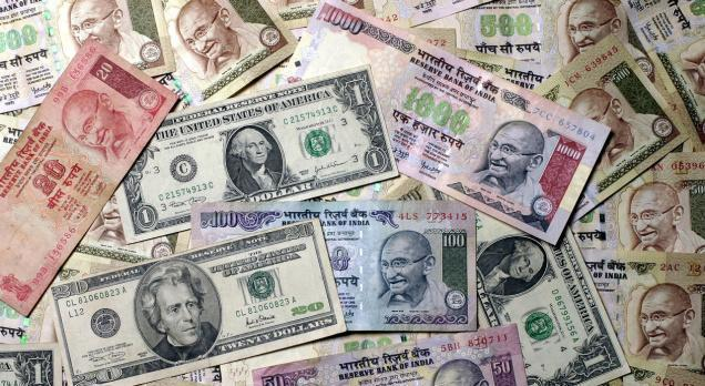 Rupee up 12 paisa at 67.78