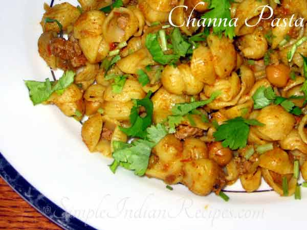 Do you know recipe of Channa Pasta
