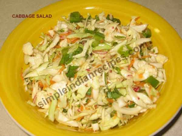Enjoy the healthy Cabbage Salad
