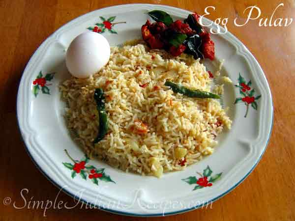 Egg Pulao is a instant recipe for breakfast and lunchbox
