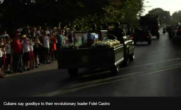 Huge crowds attend final Castro ceremony