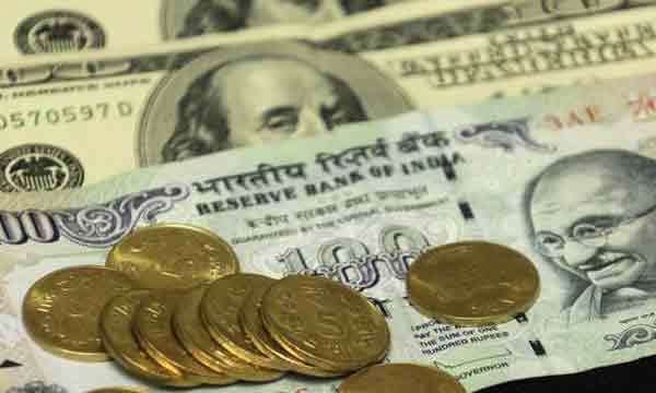 Indian rupee pares early gains, down 5 paisa