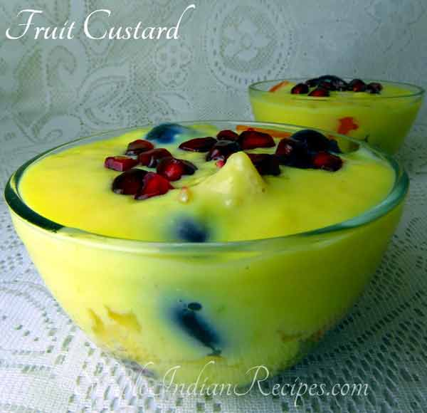 Do you know recipe of Fruit Custard