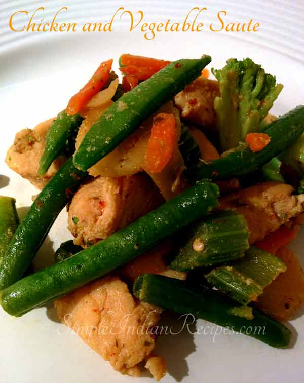 Today's recipe: Sauteed chicken with vegetables