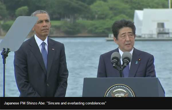Japan PM makes landmark visit to Pearl Harbor