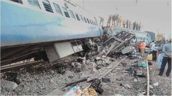 India train crash leaves 36 dead and scores injured