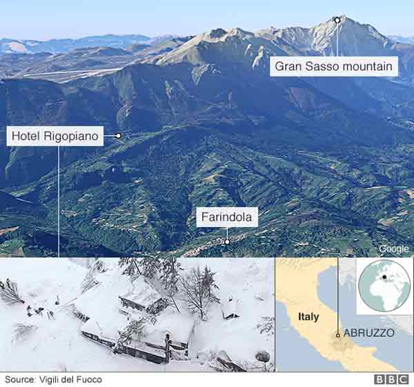 10 found alive in Italy avalanche hotel