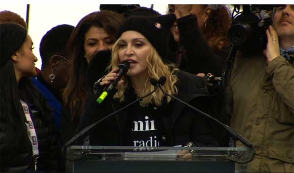Madonna delivers confrontational, R-rated anti-Trump speech
