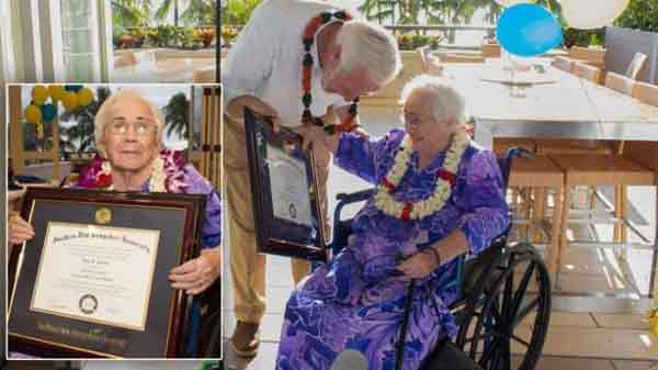 94-yr-old with 4.0 GPA gets surprise graduation ceremony