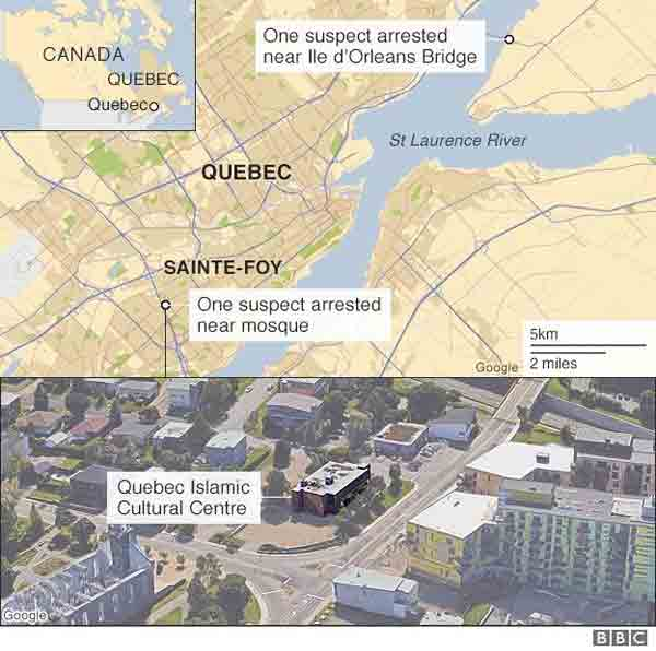6 killed in Canada mosque shooting
